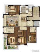 中冶盛世滨江4室2厅3卫175平方米户型图