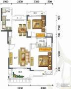 富力红树湾2室2厅1卫0平方米户型图