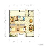 佳源巴黎都市3室2厅1卫92平方米户型图