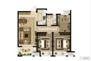 绿都澜湾3室2厅1卫98--102平方米户型图