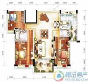 雅居乐十里花巷3室2厅2卫131平方米户型图