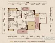 京华假日湾2室2厅1卫89平方米户型图