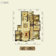 银基银河丽湾4室2厅3卫260平方米户型图