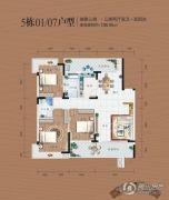 同安・福龙湾3室2厅2卫136平方米户型图