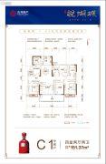古井・悦湖城4室2厅2卫151--152平方米户型图