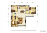 海亮滨河壹号3室2厅1卫143平方米户型图