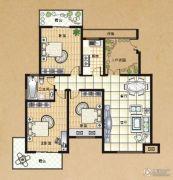 东方今典3室2厅1卫126平方米户型图