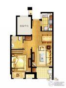 万科MixTown2室1厅1卫66平方米户型图