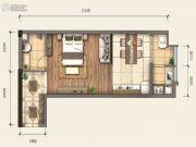 新阳光广场1室2厅1卫43平方米户型图