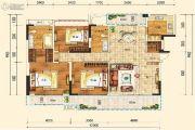 合能枫丹铂麓3室2厅2卫137平方米户型图