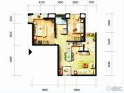 凯隆橙仕公馆2室1厅1卫73平方米户型图