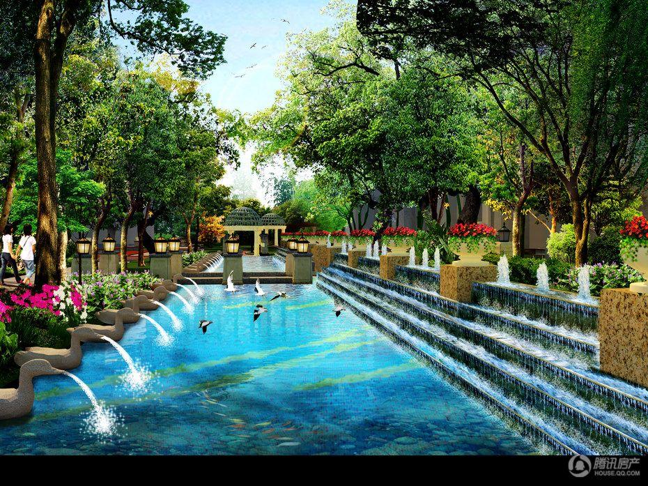 城市绿岛 D栋园林效果图