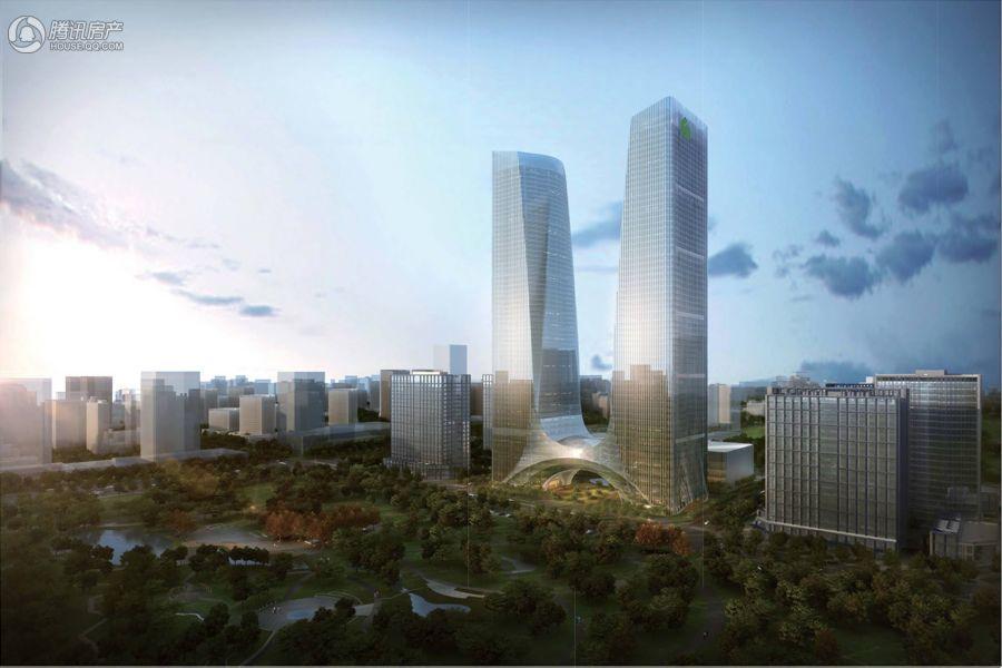 绿地中心双子塔效果图