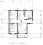 橄榄绿洲3室1厅1卫102平方米户型图