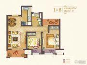 世茂国际广场2室2厅1卫87平方米户型图