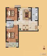 香榭丽都2室2厅1卫94平方米户型图