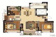 同润金色橘苑3室2厅1卫92平方米户型图