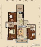 中关国际3室2厅1卫0平方米户型图