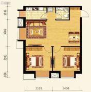 保利达大象公寓2室2厅1卫86平方米户型图