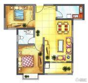 中迈王城之珠2室2厅1卫88平方米户型图