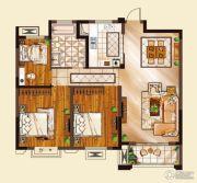 山水华庭3室2厅1卫95平方米户型图