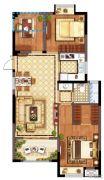 广宇・锦澜公寓3室2厅1卫86平方米户型图