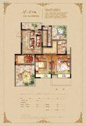 恒开滨河城2室2厅1卫92平方米户型图