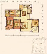 百年俪景4室2厅2卫0平方米户型图