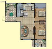 京熙帝景优+公馆3室2厅1卫104平方米户型图