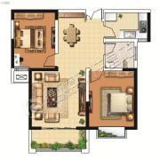 山峰财富广场2室2厅1卫88平方米户型图