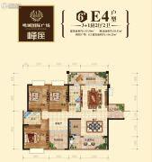 鸣城国际广场4室2厅2卫135平方米户型图