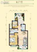 戴河庭院2室2厅1卫91--92平方米户型图