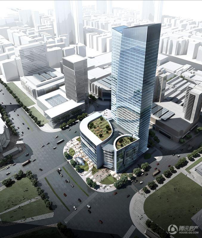 苏宁广场鸟瞰图