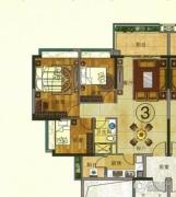 珠光流溪御景3室2厅2卫97平方米户型图
