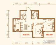 上尚城2室1厅1卫76平方米户型图