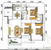 富力红树湾3室2厅2卫0平方米户型图