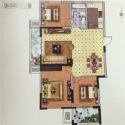 孔望尚府3室2厅1卫125平方米户型图