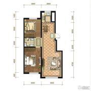 苏宁绿谷庄园2室2厅1卫86--90平方米户型图