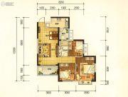 昆明・恒大名都3室2厅1卫100平方米户型图