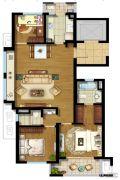 东原逸墅3室2厅2卫103平方米户型图