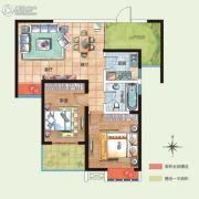 诚城常青藤2室2厅1卫89平方米户型图