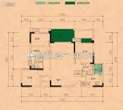 华西.九曲1号3室2厅2卫95平方米户型图