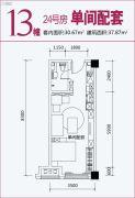 盛唐叠彩山1室0厅1卫0平方米户型图