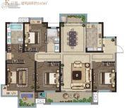 龙湖碧桂园・天宸原著4室2厅2卫165平方米户型图