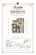 忠州碧桂园2室2厅2卫110平方米户型图