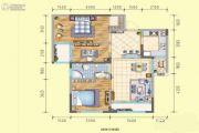 润莱8913室2厅1卫95平方米户型图