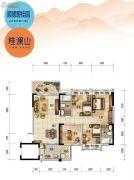 顺德碧桂园・桂澜山4室2厅2卫116平方米户型图
