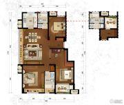 万科竹径云山二期3室2厅2卫115平方米户型图