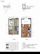 侨建・HI CITY3室2厅2卫86平方米户型图