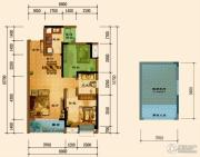 君汇上品1室1厅1卫69平方米户型图